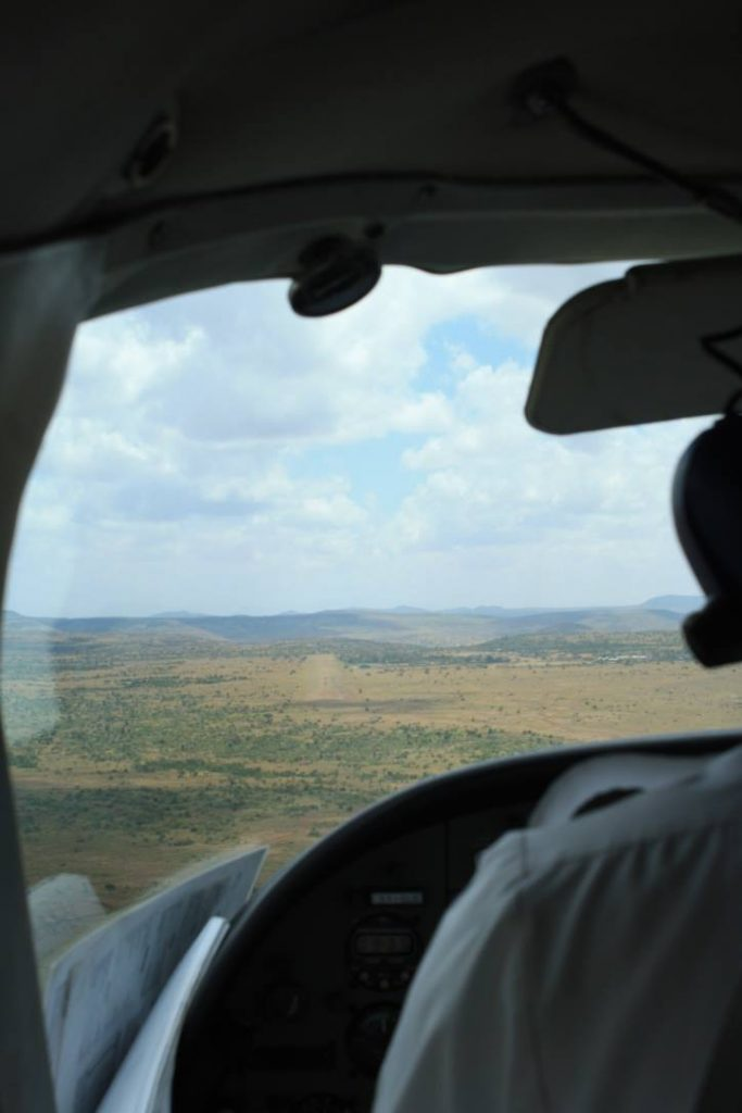 Up close and personal in a tiny plane, landing on safari in Keny