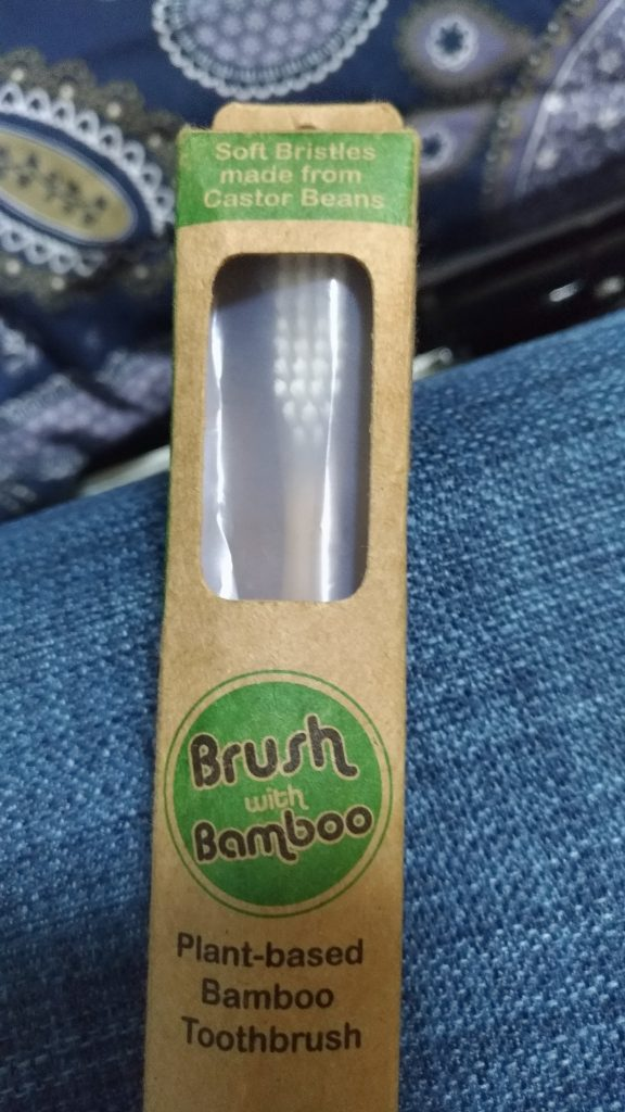 Yup, trying out the Bamboo Toothbrush…