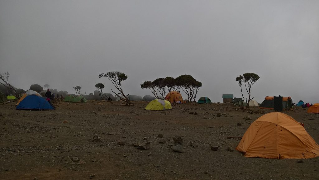 Our first view of camp...