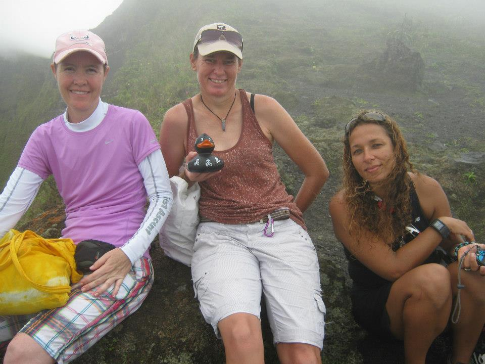 A big part of the inspiration behind all of this – my friend Margaret at the top of the Mount Soufriere, St Vincent.