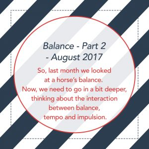 Balance - Part Two - August 2017
