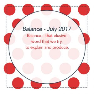 Balance - Monthly lesson for July 2017