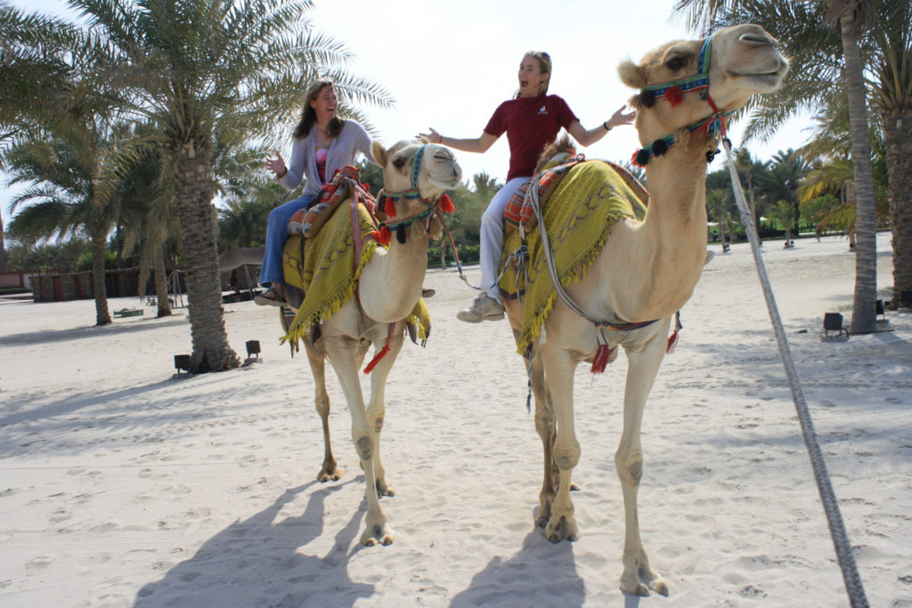 Camel riding involves feeling a whole different way of moving