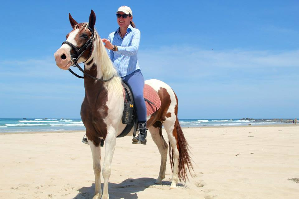 Riding a lovely mare in Costa Rica